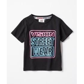 VISION カラフルロゴTシャツ キッズ ブラック