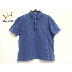 ポロラルフローレン 半袖ポロシャツ サイズL レディース ブルー×ライトグリーン   スペシャル特価 20190712【人気】