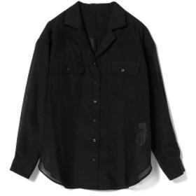 Ray BEAMS / シアー オープンカラー シャツ レディース カジュアルシャツ BLACK ONE SIZE