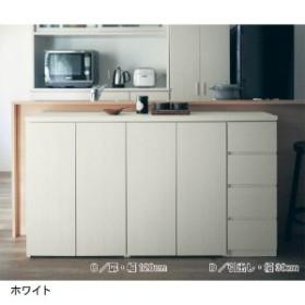 1cmピッチダブル棚板のカウンター下収納[日本製]