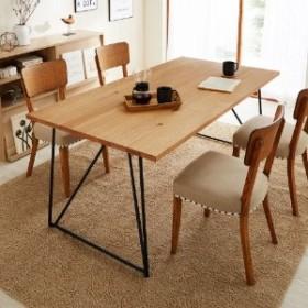 オーク材天板の脚を選べるダイニングテーブル