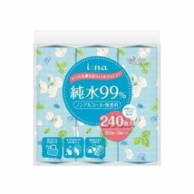 大王製紙 エリエール i:na(イーナ)いつでも使えるウェットティシュー純水99% 80枚×3P(代引不可)