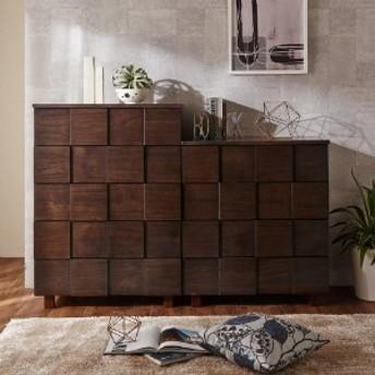 天然木のブロック調衣類収納チェスト