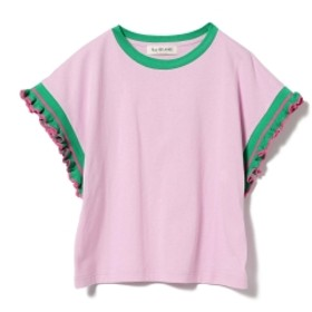 Ray BEAMS / ライン フリルスリーブ Tシャツ レディース Tシャツ PINK ONE SIZE