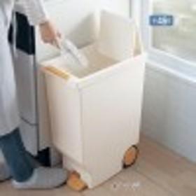キャスター付きスライドフタのペダル式ゴミ箱45L