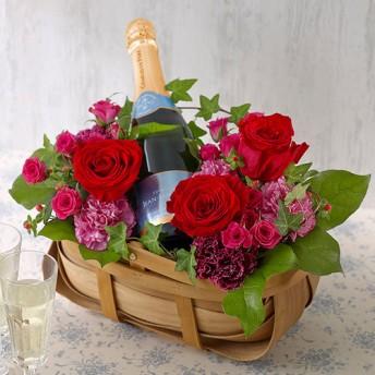 【日比谷花壇】スパークリングワインとアレンジメントのセット