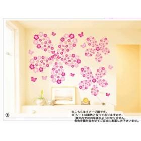 J 【14色ブロッサムフワラー】 ウォールステッカー シール 北欧 壁紙  はがせる壁紙 キッチン