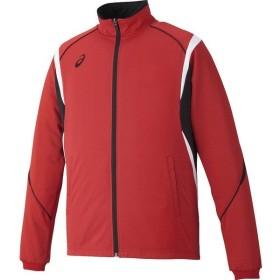 [asics]アシックストレーニングジャケット(XAT143)(23)レッド[取寄商品]