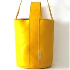 BUCKET karashi 本革製 バケツ型バッグ