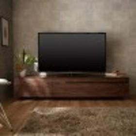 ウォルナット材のシンプルテレビ台