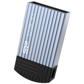 シリコンパワー USBメモリ 32GB  USB3.1 Gen1 ストラップホール/ビーズチェーン付き 永久保証 Jewel J20 ブルー SP032GBUF