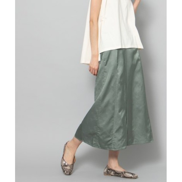 SENSE OF PLACE(センスオブプレイス) スカート スカート サテンフレアロングスカート