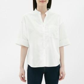(GU)ワイドスリーブシャツ(5分袖) WHITE M