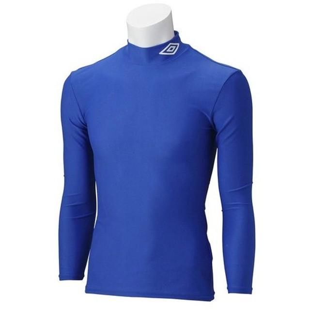 【1枚までメール便可】 [umbro]アンブロ ジュニア長袖コンプレッションシャツ (UAS9300J)(BLU) ブルー