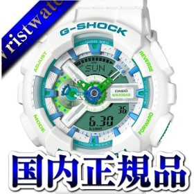 GA-110WG-7AJF G-SHOCK Gショック ジーショック カシオ CASIO アナデジ デジアナ  白 ホワイト メンズ 腕時計 国内正規品 送料無料 プレゼント アスレジャー