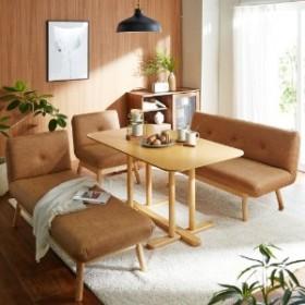 高さが変えられるオーク材のダイニングテーブル
