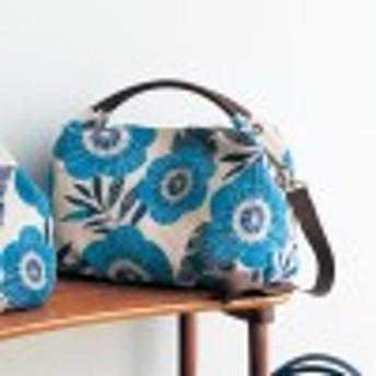 スペイン製のゴブラン織り生地使い2WAY手提げバッグ[日本製]