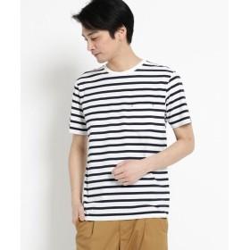 【58%OFF】 ザ ショップ ティーケー ポリジンクルーネックTシャツ メンズ ネイビー(393) 04(LL) 【THE SHOP TK】 【タイムセール開催中】