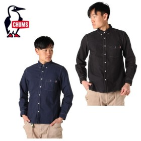 チャムス CHUMS 長袖シャツ メンズ ガーメントダイオックスシャツ CH02-1100