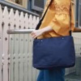 【10ポケット】ミニポーチ付A4対応ショルダーバッグ