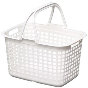 (まとめ) アイリスオーヤマ ランドリーバスケット LB-M ピュアホワイト〔×10セット〕【配達日時指定不可】