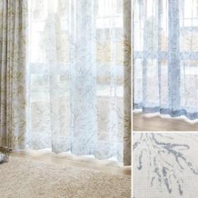 【オーダー】草木柄のボイルオーダーカーテン