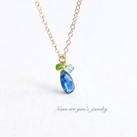 14kgf kyanite × 3stones necklace
