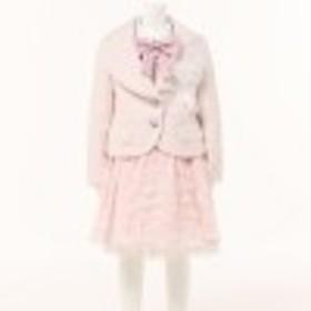 【子供服】ガールズツイード調ジャケット&オパールスカートスーツセット