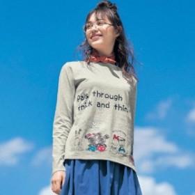 【大人気!累計販売数12,000枚達成】プリント長袖Tシャツ(レディース)
