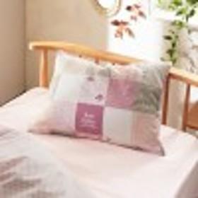 パッチワーク風デザインのファスナー式枕カバー