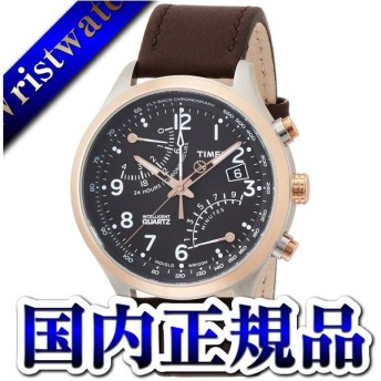 TW2P73400 TIMEX タイメックス 国内正規品 IQ フライバック ブラウン メンズ腕時計