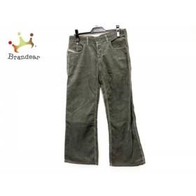 ディーゼル DIESEL パンツ サイズ29 XL レディース ダークグレー コーデュロイ/ダメージ加工  値下げ 20190617