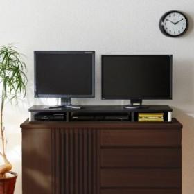 デッキ収納スペースを作れるテレビを2台設置できる整理ラック