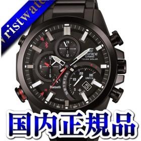 EQB-501DC-1AJF EDIFICE エディフィス CASIO カシオ タイムトラベラー 黒文字盤 ブラック タフソーラー メンズ 腕時計 国内正規品 送料無料