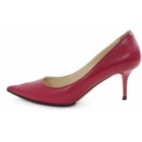 ジミーチュウ オーロラ ポインテッドトゥ パンプス 靴  34cm ダークピンク系 JIMMY CHOO/b190227/RF4■229785【中古】
