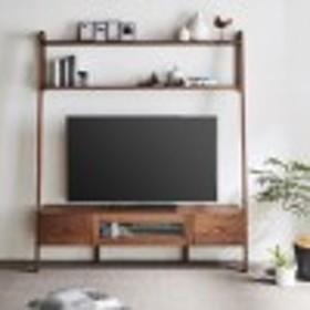 【大型商品送料無料】ウォルナット材の壁面テレビ台