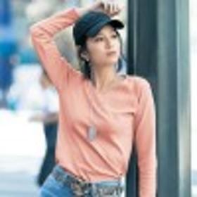 Vネックでデコルテすっきり女っぽTシャツ【S~6L】