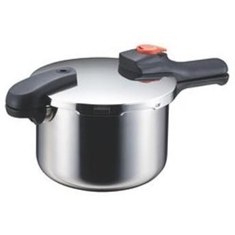 節約クックステンレス製圧力切替式片手圧力鍋5.5H-5437 CD:606474