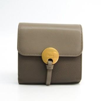 クロエ インディ CHC16UP811H8J23W レディース レザー 財布(三つ折り) グレーベージュ