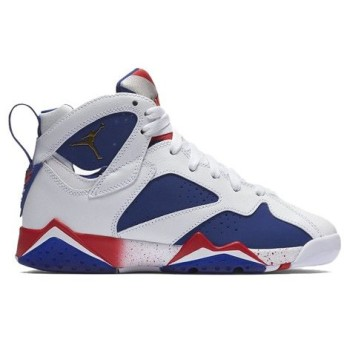 AIR JORDAN 7 RETRO GS 'OLYMPIC ALTERNATE' エア ジョーダン 7 レトロ 【BOY'S】 white/deep royal blue-fire red-metallic gold coin 304774-123