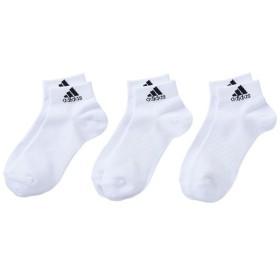 [adidas]アディダス BASIC 3P ショートソックス(DMK56)(BR6132)ホワイト/ブラック[取寄商品]