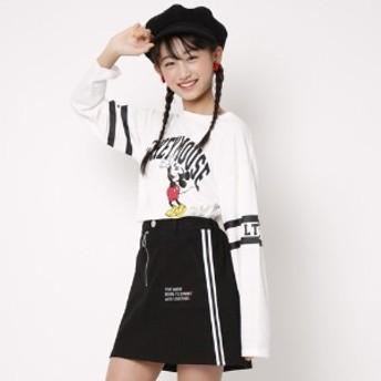 ガールズミッキーマウスデザインTシャツ(ディズニー)【ジュニア服】