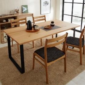 【サイズオーダー】オーク材天板の脚を選べるダイニングテーブル