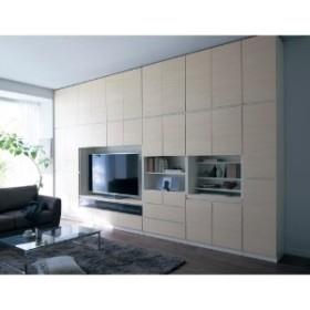 【4月10日まで大型送料無料】まるで造り付け家具のような壁面キャビネット