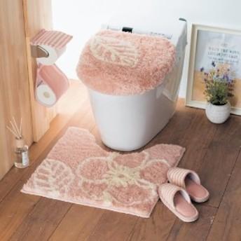 ふんわりシャギーのトイレマット・フタカバー(単品・セット)