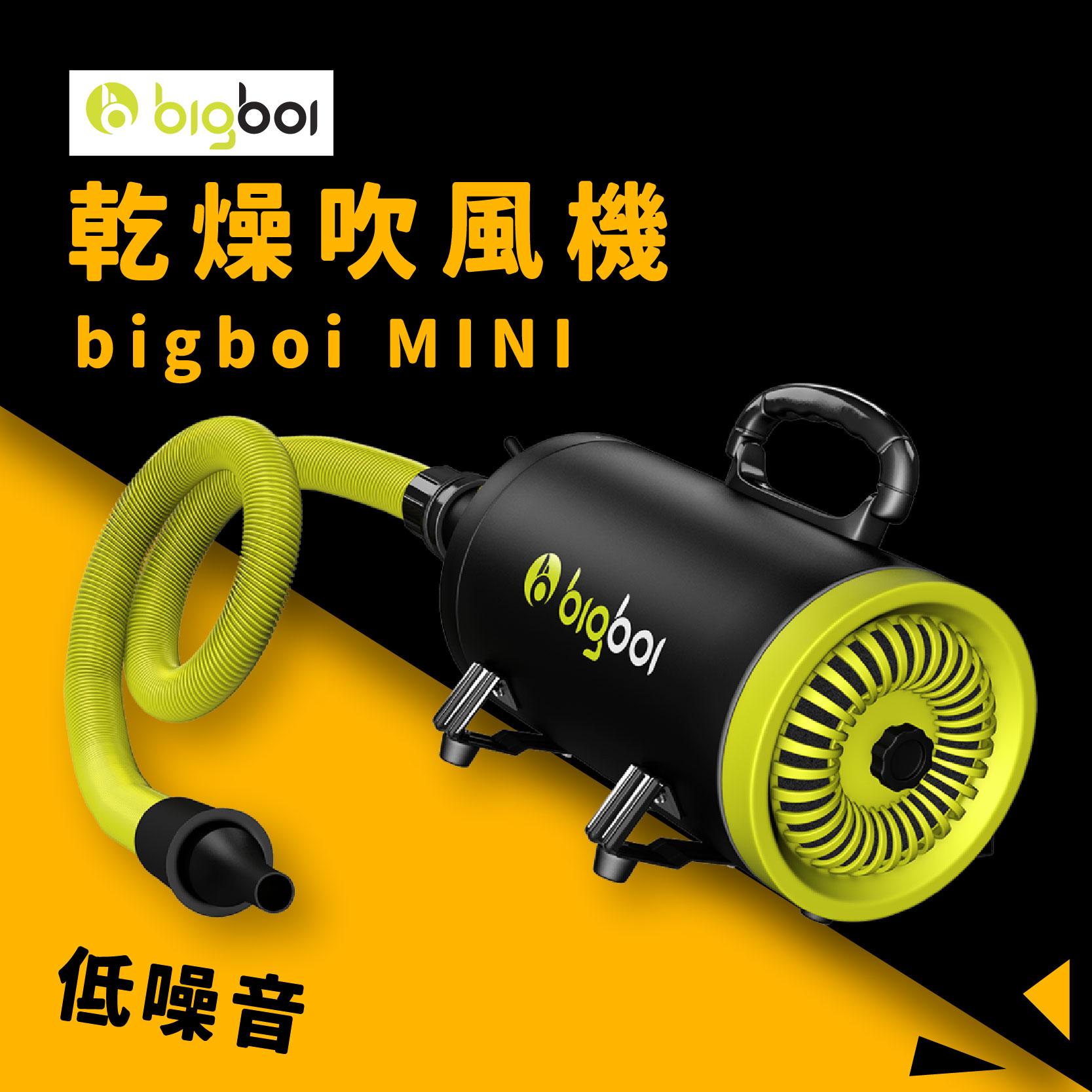 澳洲原裝進口│bigboi MINI 單馬達乾燥吹風機 低噪音 大風力 大風速 恆溫設計 寵物 兩段溫控