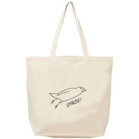 文鳥トートバッグ 「ミサイル文鳥」 【受注生産】