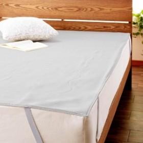 綿混素材が肌あたり優しいメッシュ敷きパッドキャスコット