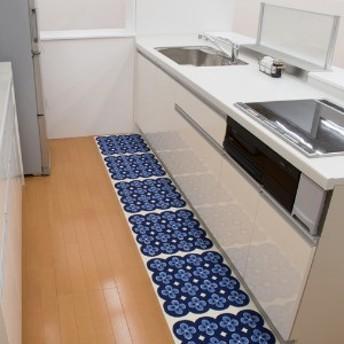 置くだけ吸着のキッチンマット45cm角・2枚