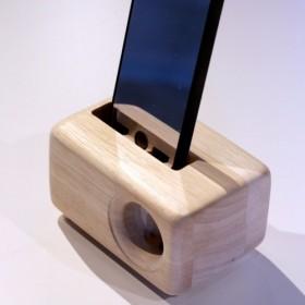 《送料無料》木製iPhoneスピーカーAcoustic iPhoneWoodSpeaker(5/5S/SE/6/6S用)